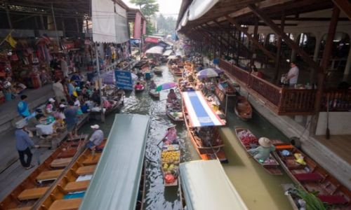 Zdjecie TAJLANDIA / brak / Floating Market  DAMNOEN SADUAK / Fota 3