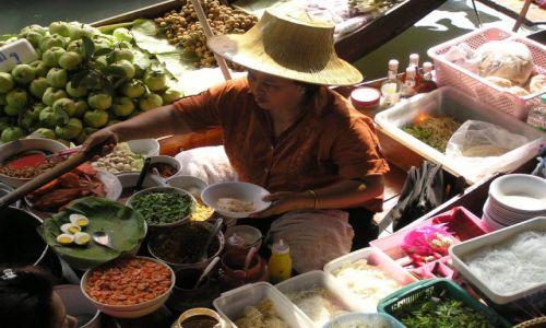 TAJLANDIA / brak / na południe od Bangoku / pływający rynek