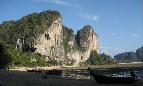 Zdjecie TAJLANDIA / Krabi / Ton Sai Beach / Podczas odpływu...