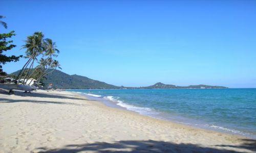 Zdjecie TAJLANDIA / Ko Samui / plaża / niebiesko