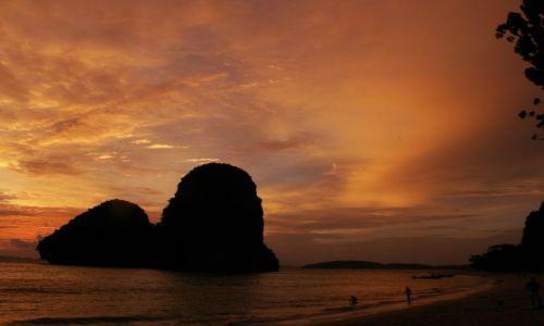 Zdjecie TAJLANDIA / Krabi / Railay Beach / Zachód słońca