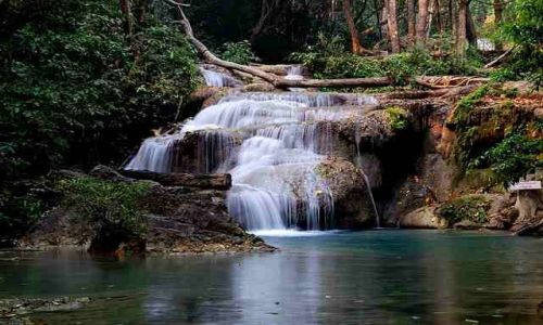 Zdjecie TAJLANDIA / Kanchanaburi / Park Narodowy Erawan / Wodospad Erawan