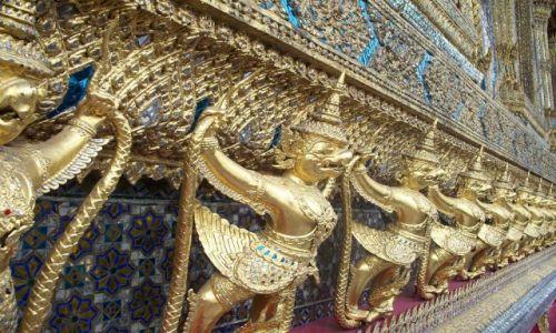 Zdjecie TAJLANDIA / Bangkok / Wielki Pałac / Demony - na elewacji Pałacu Szmaragdowego Buddy