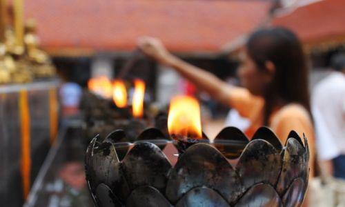 Zdjęcie TAJLANDIA / Północna Tajlandia / Chiang Mai / w świątyni