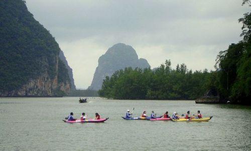 TAJLANDIA / południowa Tajlandia / Ao Phang-Nga National Park / nakajaku do jaskini Koh Talu