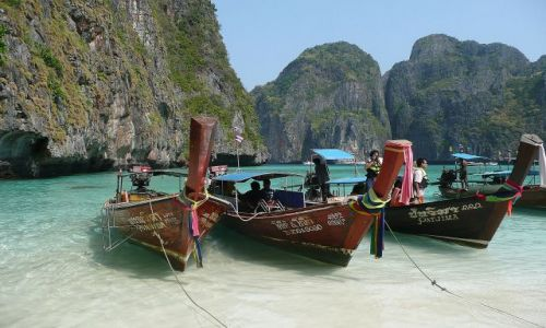 Zdjecie TAJLANDIA / Koh Phi Phi Le / Mava Bay / Water taxi 2