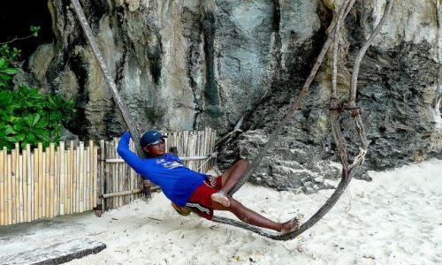 Zdjecie TAJLANDIA / Krabi / plaża przy Rai Le Bay resort and spa / Niezły punkt widzenia ...