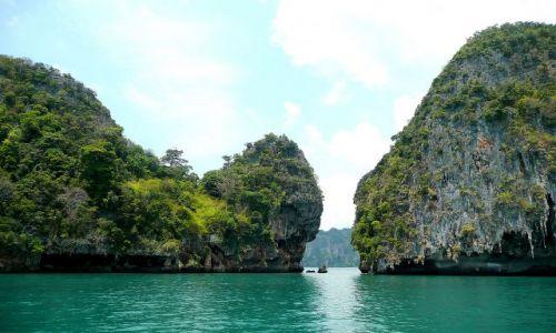 Zdjecie TAJLANDIA / Krabi / Okolice Rai Le Beach / Imponujące skały Andamanów