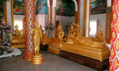TAJLANDIA / Bangkok / świątynia w mieście / Budda na każdy dzień tygodnia
