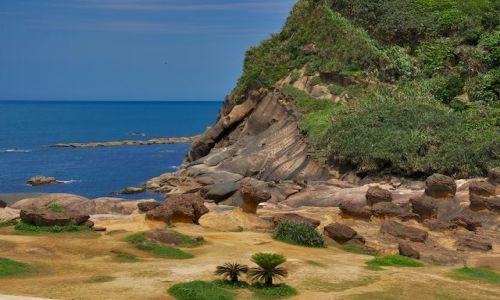 TAJWAN / Wanli / Yehliu / Formacje skalne w Yehliu (Taiwan)