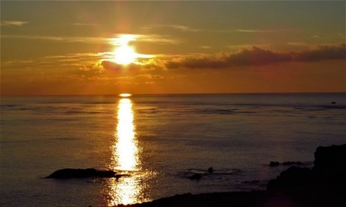 TAJWAN / - / Wyspa Ludao / Wschód słońca
