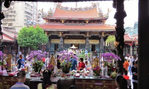 Zdjecie TAJWAN / - / Taipei / Świątynia Longshan