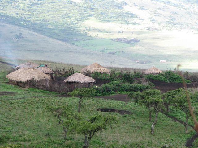 Zdjęcia: Zbocze krateru Ngorongoro, Afryka, Wioska Masajów , TANZANIA