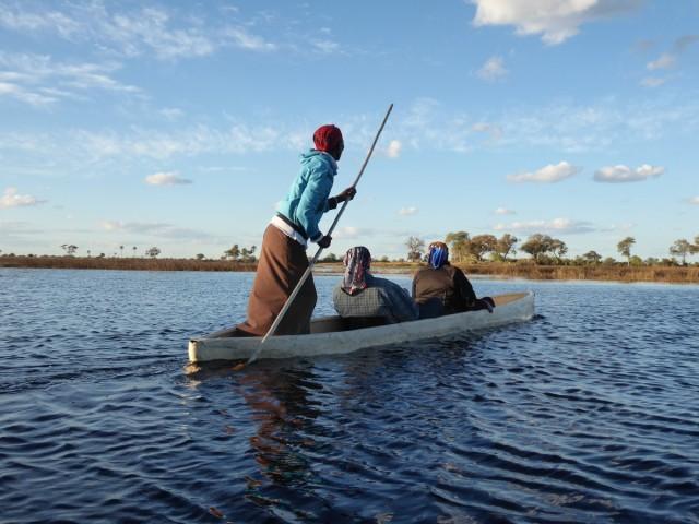 Zdjęcia: delta rzeki Okawango, podwózka na Okawango, BOTSWANA