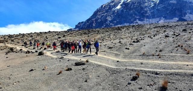 Zdjęcia:  , Kilimandżaro, W drodze do Barafu Camp, TANZANIA