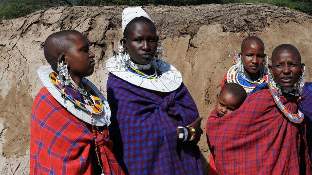 Zdjęcia: wioska masajska, w okolicy Ngorongoro, Masajowie, TANZANIA