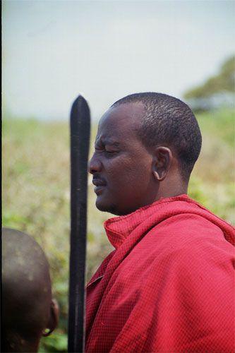 Zdjęcia: Longido, wojownik masajski, TANZANIA