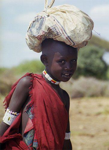 Zdjęcia: Longido, chłopiec w masajskiej wiosce, TANZANIA