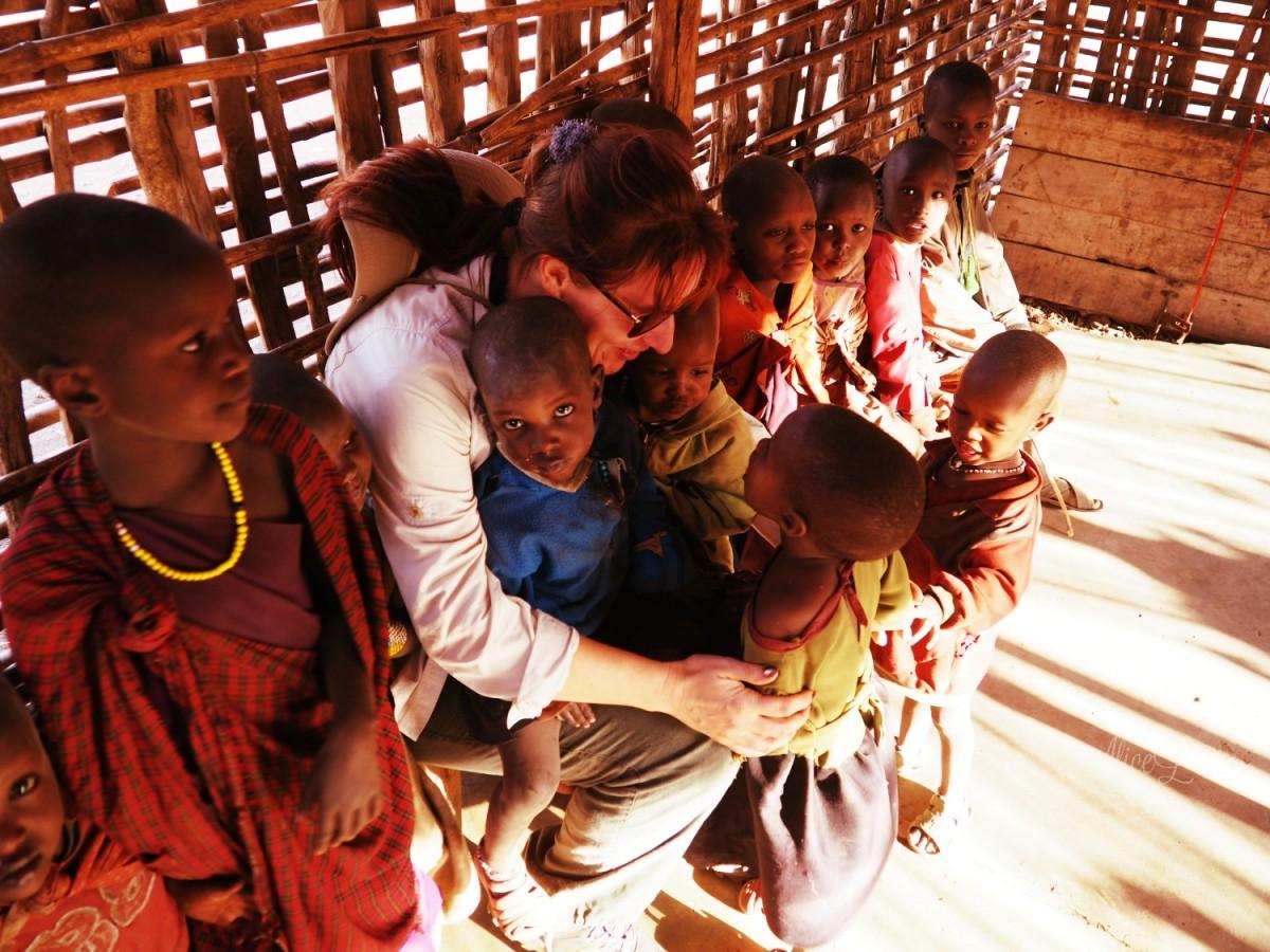 Zdjęcia: Ngorongoro, Północ, Wioska Masajów - szkoła, TANZANIA