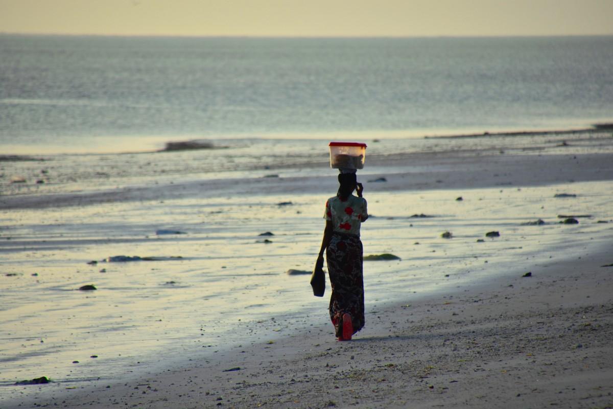 Zdjęcia: wybrzeże wschodnie, Zanzibar, O świcie do pracy, TANZANIA