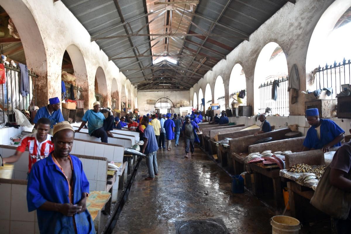 Zdjęcia: Stone Town, wybrzeże zachodnie, Zanzibar, Targ rybny w Stone Town, TANZANIA