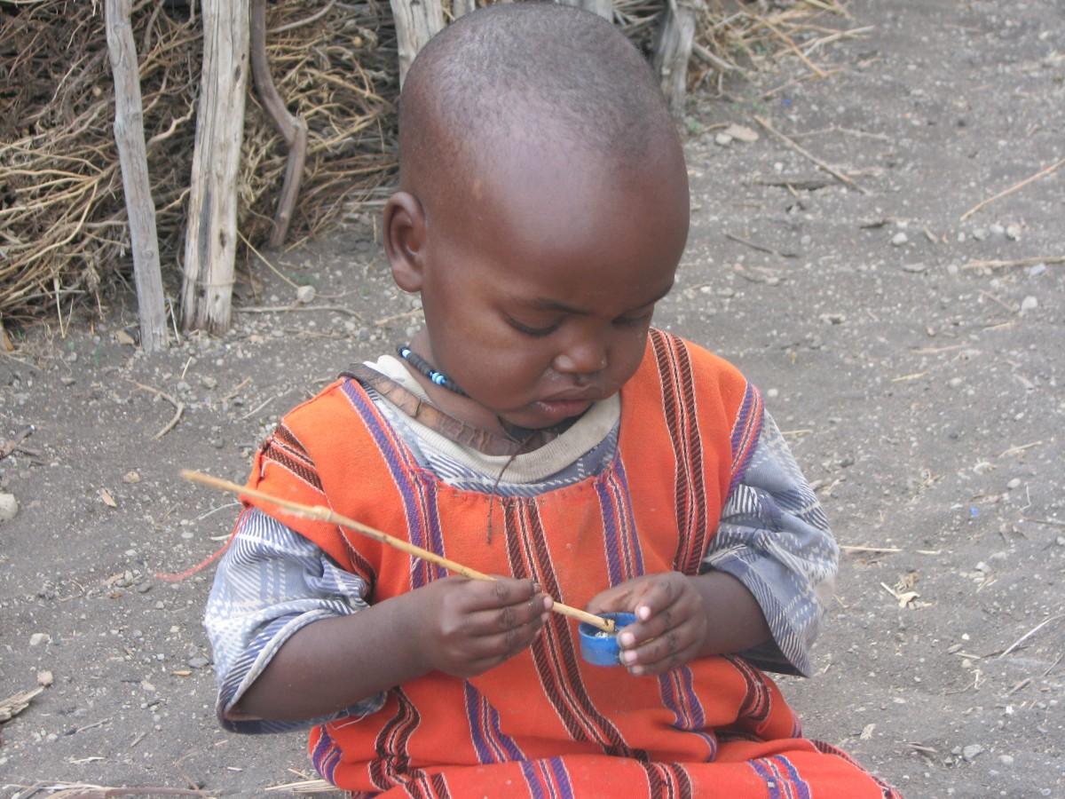 Zdjęcia: Wioska masajska, Serengeti, Będzie zupka, TANZANIA
