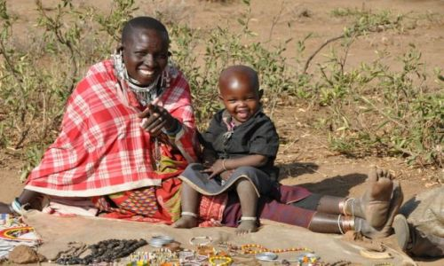 Zdjęcie TANZANIA / - / Longido / Masajska słodycz