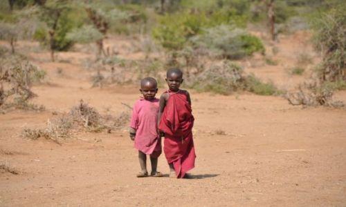Zdjęcie TANZANIA / Longido / Longido / Masajskie dzieciaczki