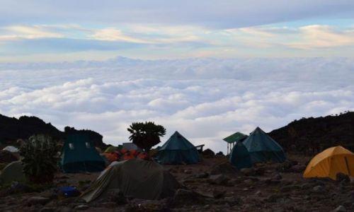 Zdjecie TANZANIA / - / Kilimandżaro / obóz w chmurach