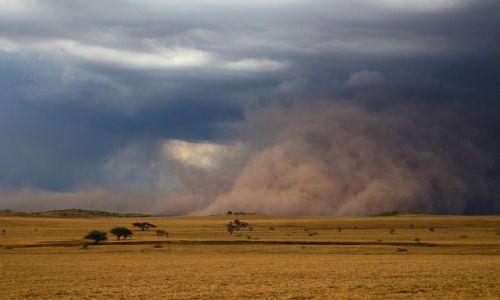 TANZANIA / Lake Natron / Lake Natron / Sandstorm- burza pustynna - KONKURS