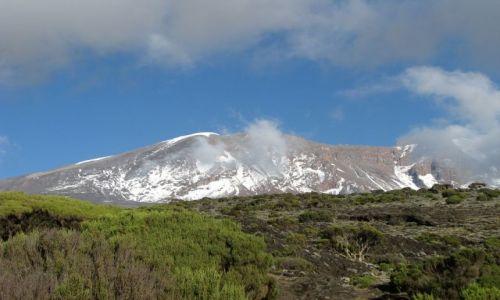 Zdjecie TANZANIA / Afryka,  / Machame Route, Kilimanjaro / Kilimanjaro - widok z wys. 3700 m