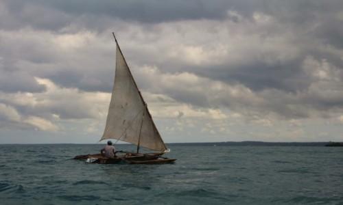 TANZANIA / Zanzibar / somewhere on the sea / Zanzibar - dhow