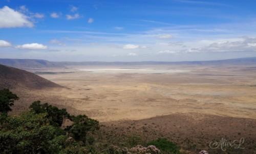 TANZANIA / Północ / Ngorongoro / Pierwsze spotkanie z Ngorongoro