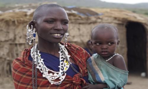Zdjęcie TANZANIA / Lake Manyara / wioska masajska / Piękna Para