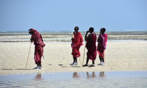 Zdjęcie TANZANIA / Zanzibar / wschodnie wybrzeże / Masajowie (w pracy)
