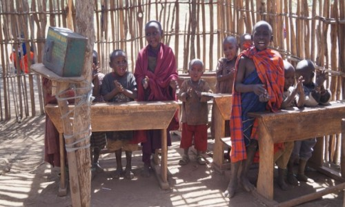 Zdjecie TANZANIA / Serengeti / Serengeti / Wszkole Masajów
