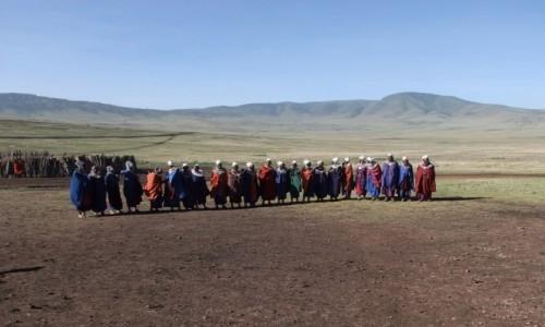 Zdjecie TANZANIA / Afryka Środkowa / Park Ngorongoro / Masajki