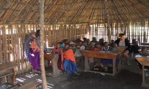 Zdjecie TANZANIA / Afryka Środkowa / Park Ngorongoro / W szkole Masajów