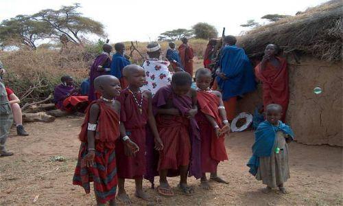 Zdjecie TANZANIA / brak / Longido / masajskie dzieci
