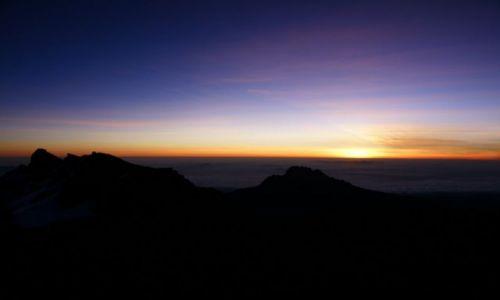 Zdjecie TANZANIA / Kilimandżaro / Stella Point / Wschód słońca z Kilimandżaro