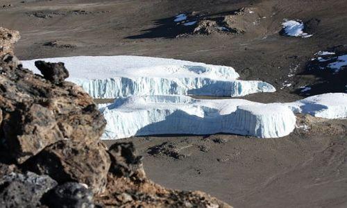 Zdjecie TANZANIA / - / Widok z Kilimandżaro / Lodowiec Kilimandżaro