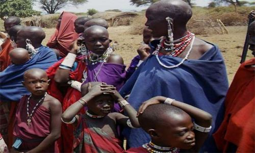 Zdjecie TANZANIA / brak / Longido / w wiosce masajs