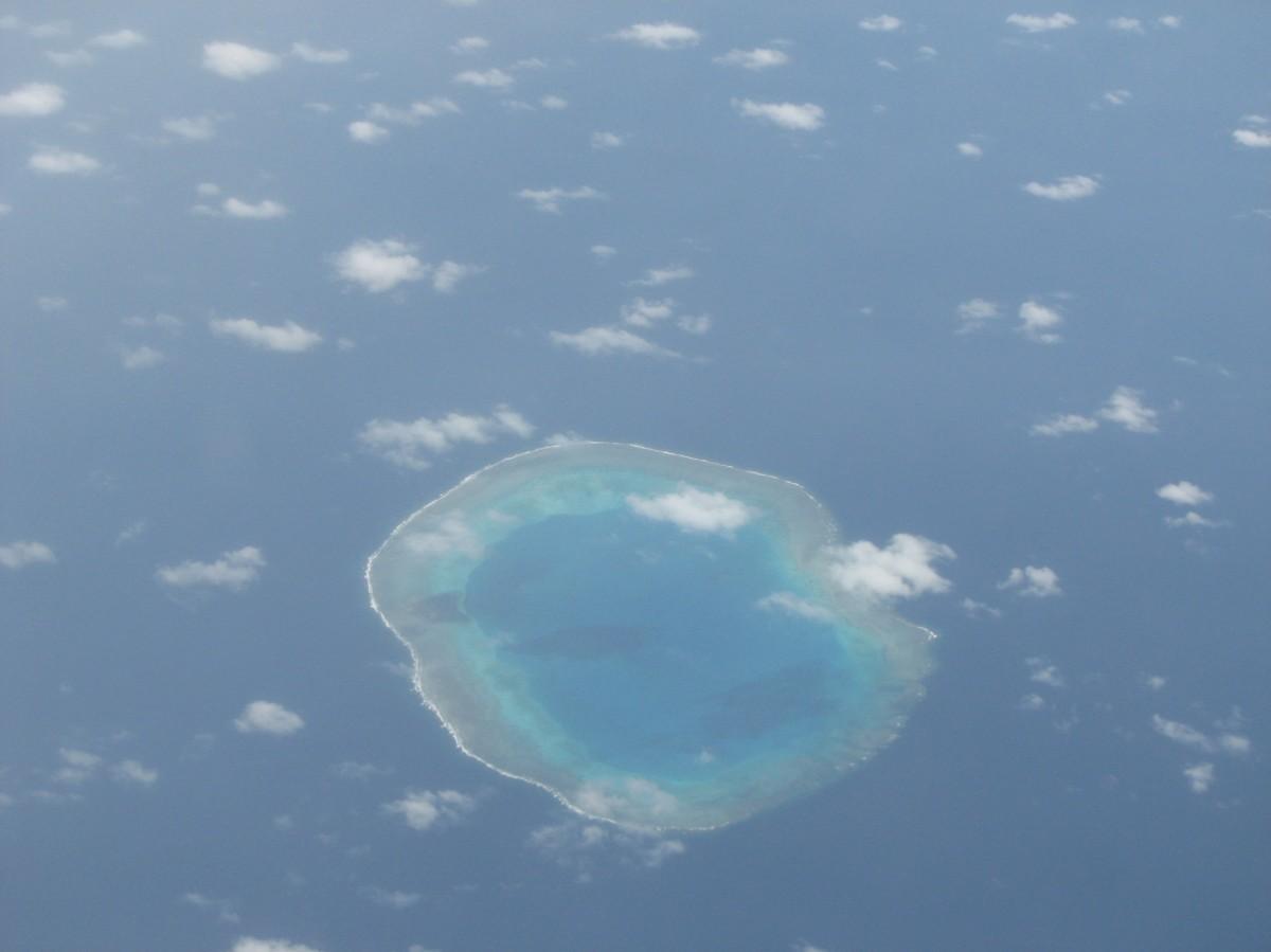 Zdjęcia: z samolotu, ocean, atol, TONGA