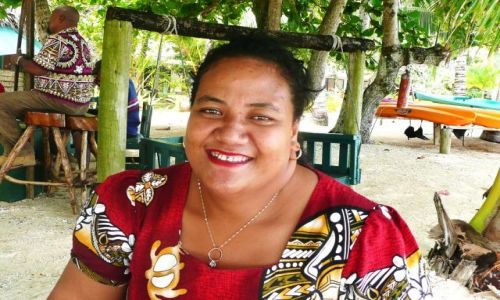 Zdjecie TONGA / Vava'u / południowy Pacyfik / Kobiety z resortu