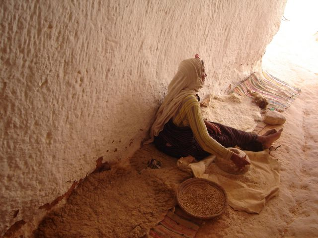 Zdjęcia: Matamata, Pd. Tunezja, Podziemny dom Berberów, TUNEZJA