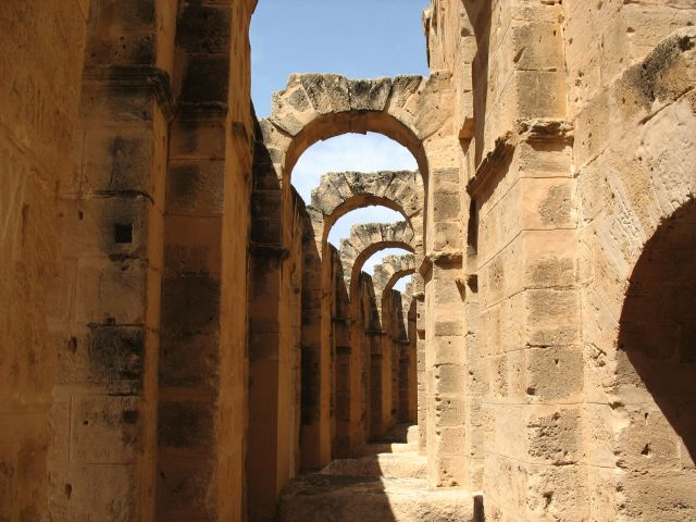 Zdj�cia: El-Dzem, Sahel, Tunezja w maju, TUNEZJA