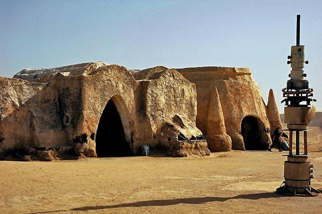 Zdjęcia: Dekoracja z Gwiezdnych Wojen, Sahara, ...., TUNEZJA