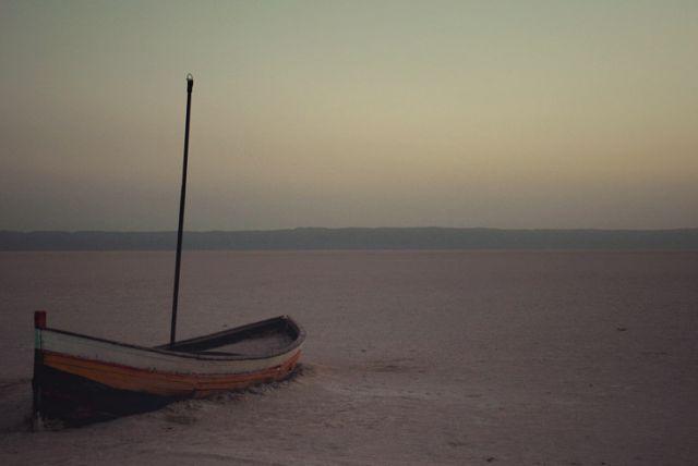 Zdjęcia: jezioro Chott El Gharsa, jeziora Chott El Gharsa, samotnosć, TUNEZJA