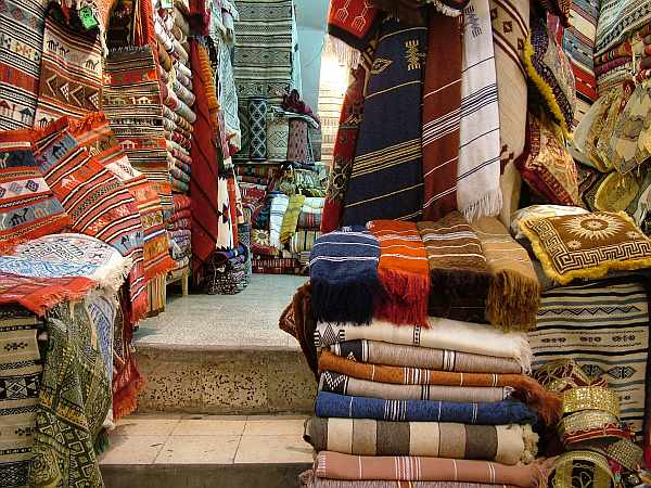 Zdjęcia: Susa, Sklep z dywanami, TUNEZJA