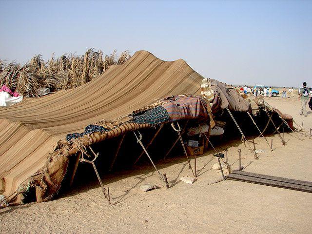 Zdjęcia: namioty Nomadów, Sahara, ..., TUNEZJA